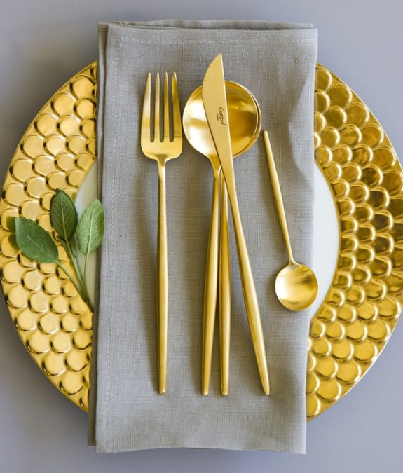 Buy Cutipol Moon Matt Gold Cutlery Set — 24 Piece | Amara for Cutipol Gold Flatware